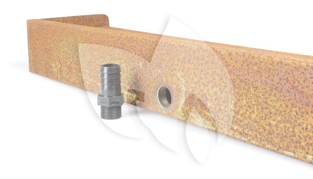 Express cortenstaal 60 cm waterval led for Terrasvijver maken