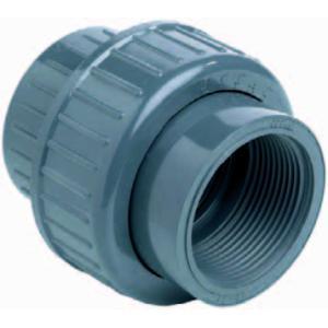 PVC 3-delige koppeling lijm x binnendraad - 40 mm x 1 1/4