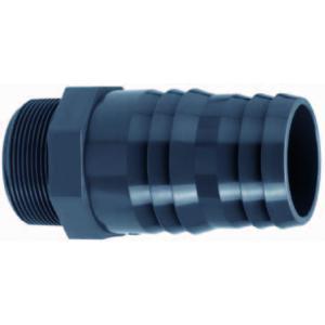 PVC slangtule met buitendraad - 1/4 x 12 - 14 mm