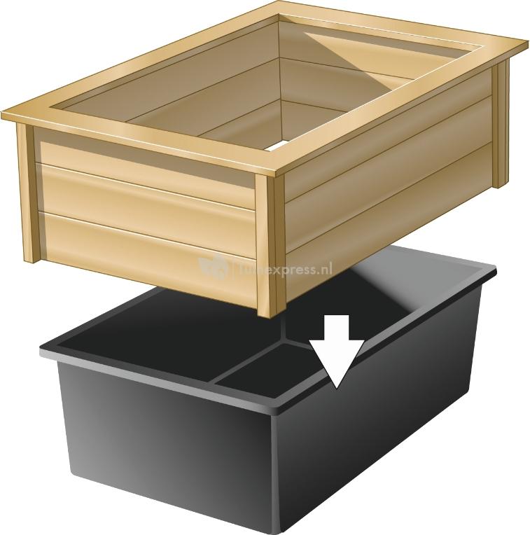 Ubbink quadra houten ombouw for Hout voor vijver