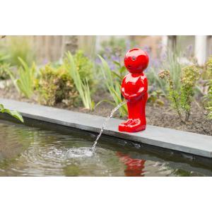 Spuitfiguur Boy 45 cm rood