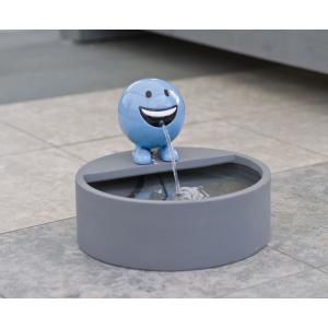 Be Happy blauw waterornament