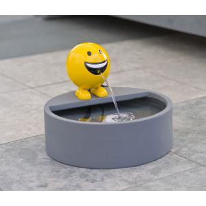 Be Happy geel waterornament