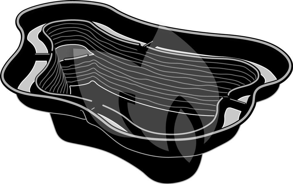 Ubbink calmus siv voorgevormde vijver for Filterpomp vijver