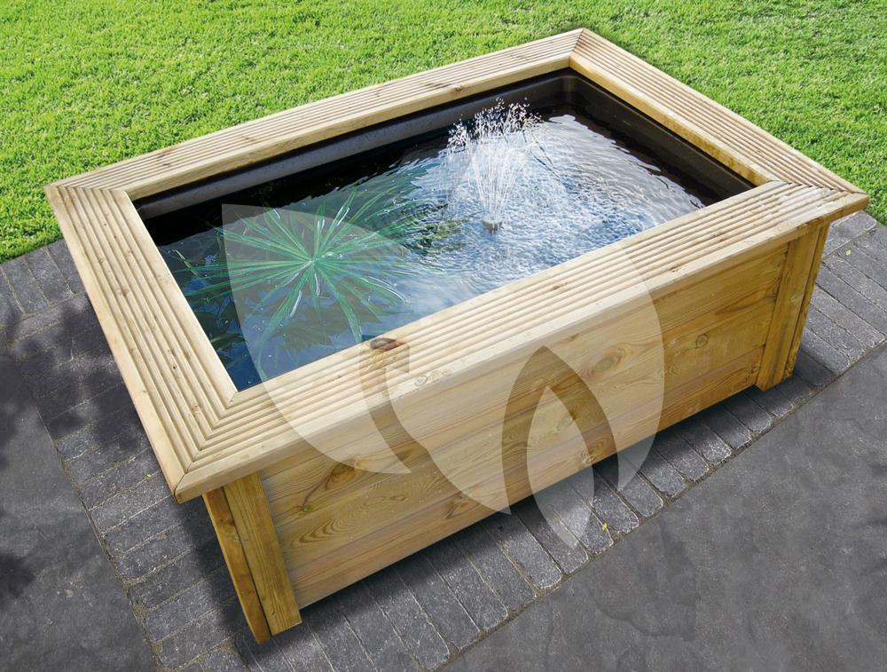Ubbink quadra houten ombouw for Vijverrand maken